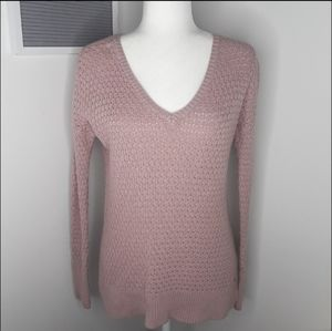 American Eagle blush pink knit v-neck sweater